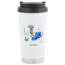 Moose on The Loose T Shirts Ceramic Travel Mug