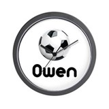 Soccer Owen Wall Clock