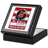 Are You Doing All You Can Vintage Poster Tile Box