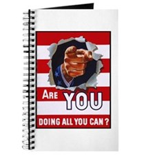Are You Doing All You Can Vintage Poster Journal