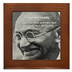 Power of Truth Gandhi Framed Tile