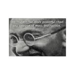 Power of Truth Gandhi Rectangle Magnet (10 pack)
