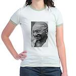 Power of Truth Gandhi Jr. Ringer T-Shirt