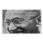 Power of Truth Gandhi Rectangle Sticker