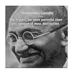 Power of Truth Gandhi Tile Coaster