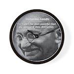Power of Truth Gandhi Wall Clock