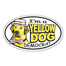 New Yellow Dog Democrat Oval Decal