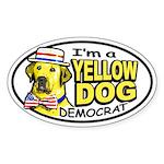New Yellow Dog Democrat Oval Sticker