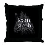 Team Jacob Werewolf Forest Throw Pillow