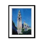 Moonlight in Balboa Park Framed Panel Print