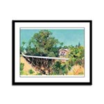 Bridge over canyon Framed Panel Print
