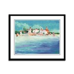 Beach at Hotel Del Coronado Framed Panel Print