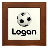 Soccer Logan Framed Tile