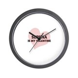 Serena Is My Valentine Wall Clock