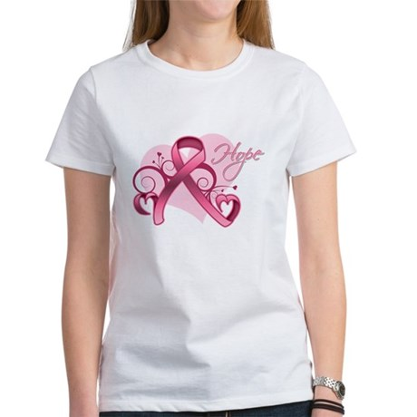 FloralHeartBreastCancer Women's T-Shirt