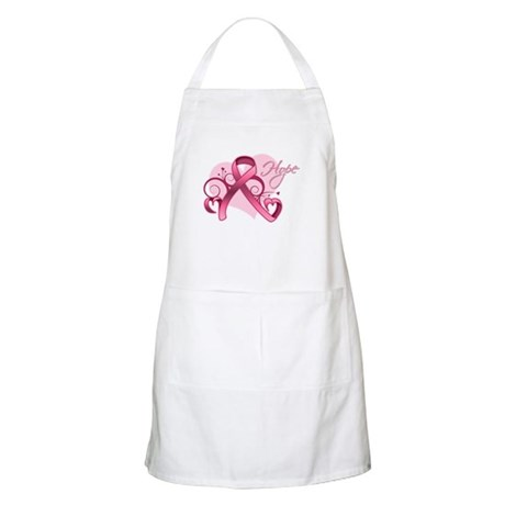 FloralHeartBreastCancer Apron