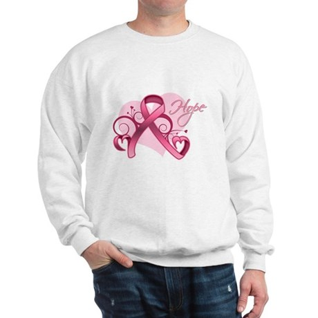 FloralHeartBreastCancer Sweatshirt