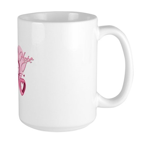 FloralHeartBreastCancer Large Mug