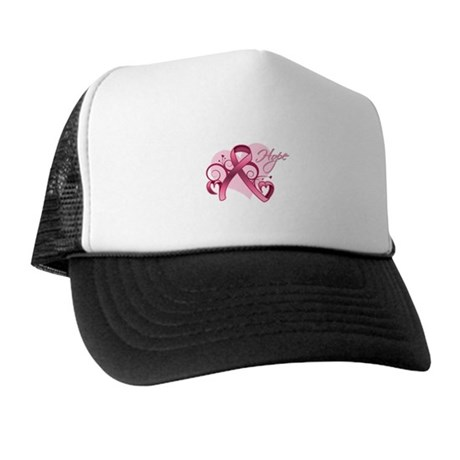 FloralHeartBreastCancer Trucker Hat