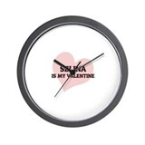 Selina Is My Valentine Wall Clock