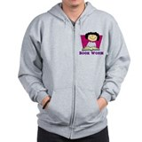 Book Worm Zipped Hoody