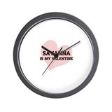 Savanna Is My Valentine Wall Clock
