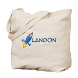 Landon Rocket Ship Tote Bag