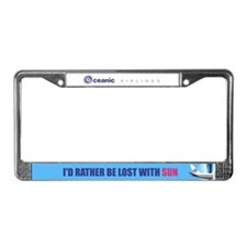 I'd rather be lost with Sun License Plate Frame