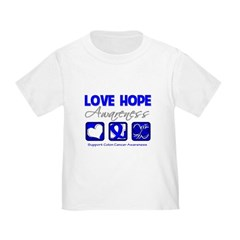 Colon Cancer LoveHope Toddler T-Shirt