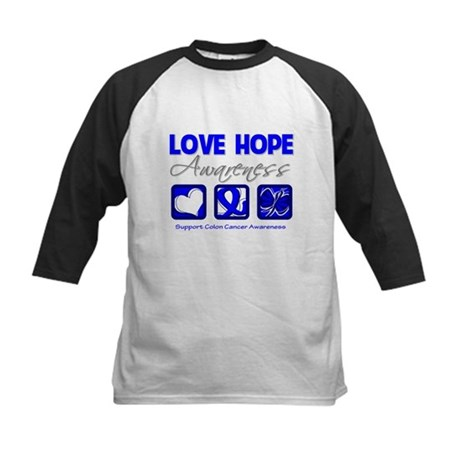 Colon Cancer LoveHope Kids Baseball Jersey