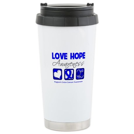 Colon Cancer LoveHope Ceramic Travel Mug