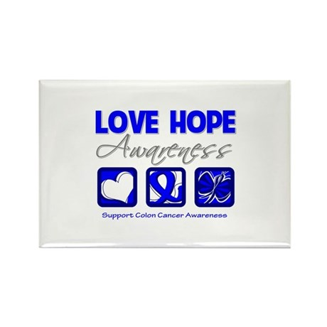 Colon Cancer LoveHope Rectangle Magnet