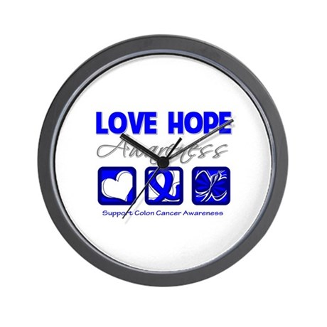 Colon Cancer LoveHope Wall Clock