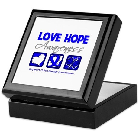 Colon Cancer LoveHope Keepsake Box