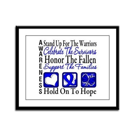 Colon Cancer StandUp Framed Panel Print