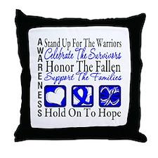 Colon Cancer StandUp Throw Pillow