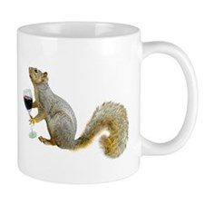 Squirrel with Wine Mug