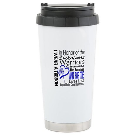 IWearBlue TributeRibbon Ceramic Travel Mug