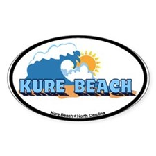 Kure Beach NC - Waves Design Decal