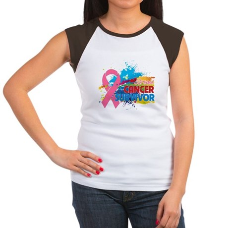 Splash Breast Cancer Women's Cap Sleeve T-Shirt
