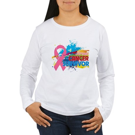 Splash Breast Cancer Women's Long Sleeve T-Shirt