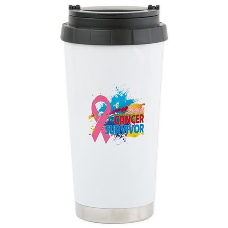 Splash Breast Cancer Ceramic Travel Mug