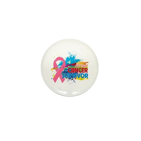 Splash Breast Cancer Mini Button