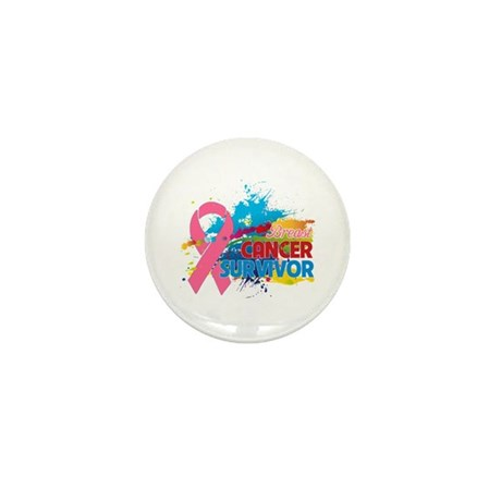 Splash Breast Cancer Mini Button (100 pack)