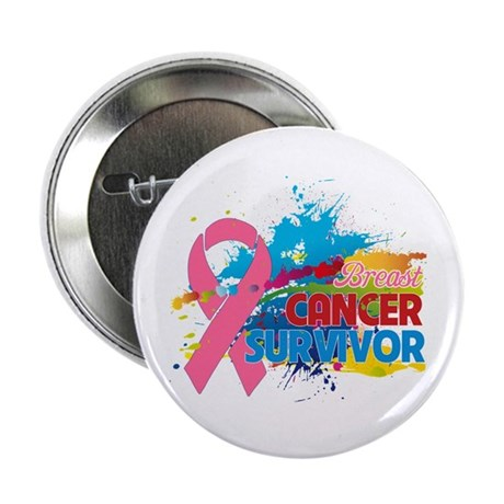 "Splash Breast Cancer 2.25"" Button"
