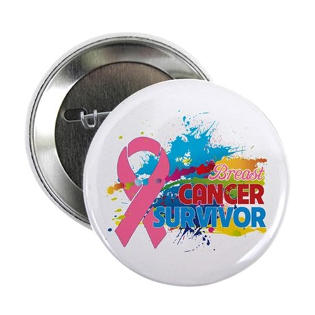 "Splash Breast Cancer 2.25"" Button (100 pack)"
