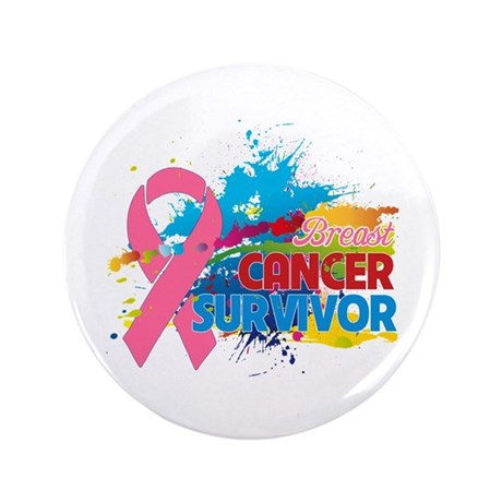 "Splash Breast Cancer 3.5"" Button (100 pack)"