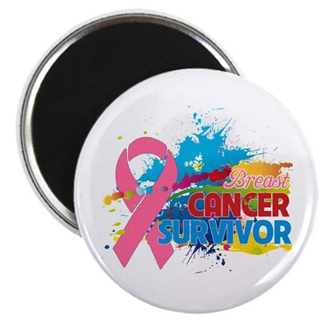"Splash Breast Cancer 2.25"" Magnet (100 pack)"