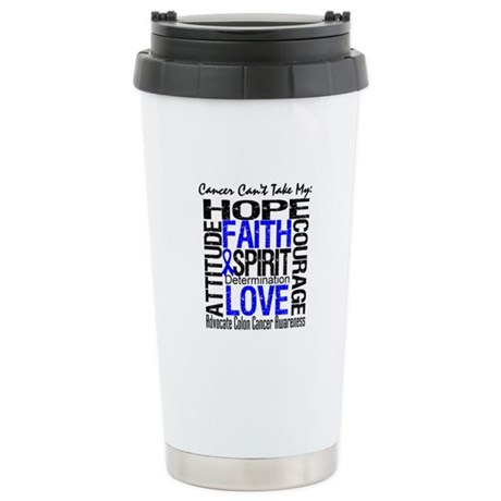 Colon Cancer Can't Ceramic Travel Mug