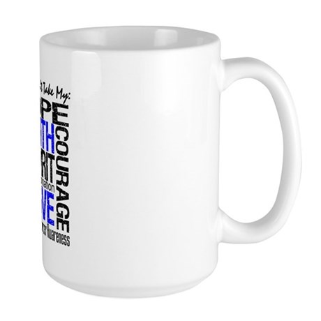 Colon Cancer Can't Large Mug